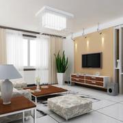 纯色的客厅装修效果图
