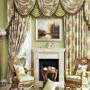 自然型飘窗窗帘设计