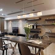 美式原木式餐厅空间设计