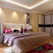 卧室壁纸装修床头灯图