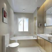 白色简约卫生间图片
