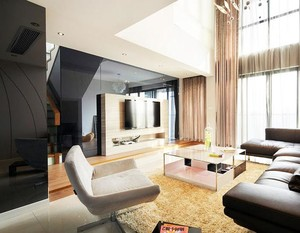 体现特点:202平米跃层式住宅装修效果图大全