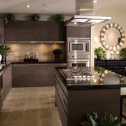 大气美式开放式厨房图