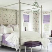紫色田园风小卧室设计