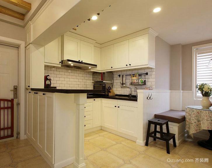 现代欧式别墅型开放式厨房装修效果图