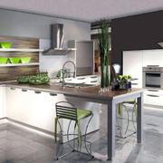 开放式厨房设计背景墙图