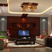 唯美的中式家装客厅效果图