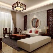 中式客厅效果图吊灯设计