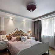 现代卧室壁纸装修效果图