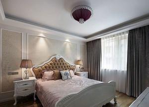 豪华舒适的欧式大户型卧室壁纸装修效果图