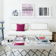 简欧白色混搭型客厅设计