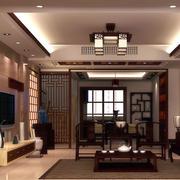 暖色调中式家装客厅效果图