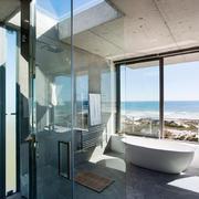 小户型卫生间玻璃隔断门