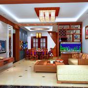 中式家装客厅背景墙图