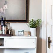 新房简约白色书柜设计