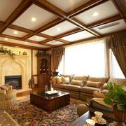暖色别墅客厅装修效果图