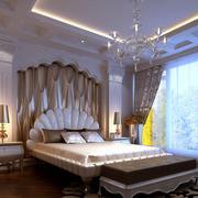 卧室壁纸装修吊灯图