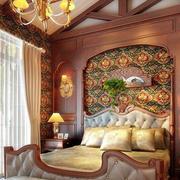 暖色卧室壁纸装修设计