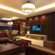 中式家装客厅装修效果图