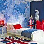 儿童房蓝色卧室装修