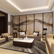 中式家装客厅设计隔断图
