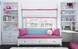 粉色波点式小户型家装