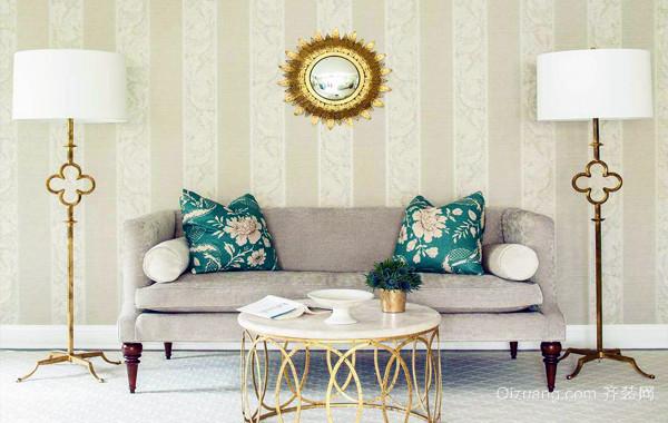 典雅唯美:美式3居室田园风格家装效果图例