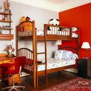 儿童房两层上下铺装饰