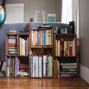 新房客厅小型书柜设计