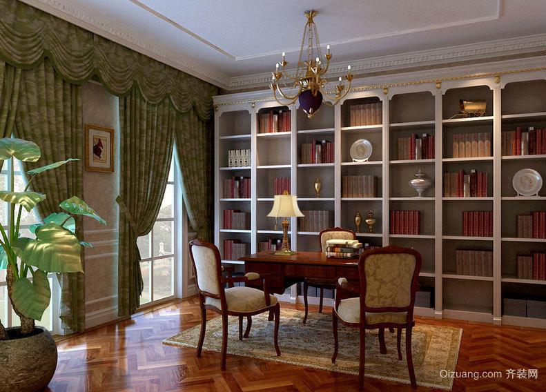 118平方复式楼传统型小书房装修效果图