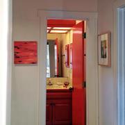 房屋红色现代化卫生间设计