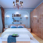 地中海风格卧室装修衣柜图