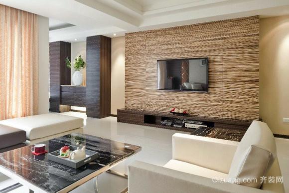 豪华正统:120平米美式硅藻泥电视背景墙设计