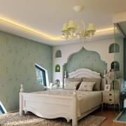 地中海风格卧室装修隔断图
