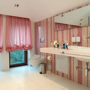 简约粉色卫生间装饰