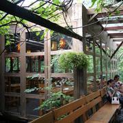 景区的休闲餐厅展示