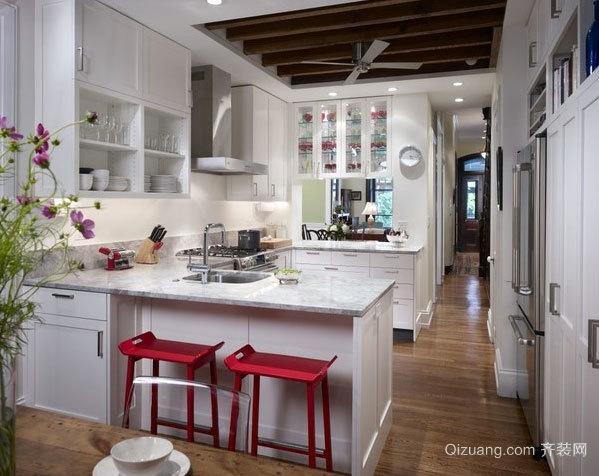 180平米别墅开放式欧式厨房装修效果图设计