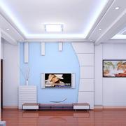 简欧风格硅藻泥材质电视墙设计