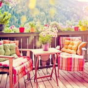 阳台桌椅装修设计