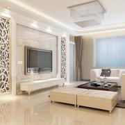 欧式简约型电视墙设计