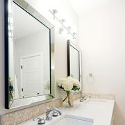 90平米房屋卫生间洗手台设计