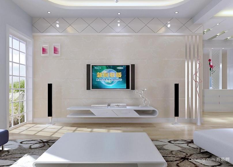 硅藻泥电视背景墙2015精品装修效果图