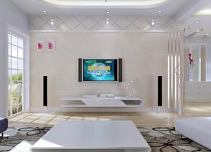 客厅硅藻泥影视墙设计