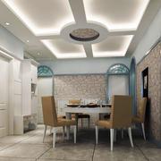 餐厅吊顶装修桌椅图