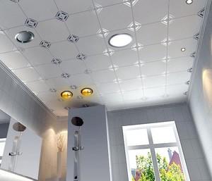 2015实用精致卫生间铝扣板吊顶装修效果图