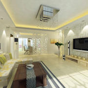 客厅硅藻泥背景墙整体设计