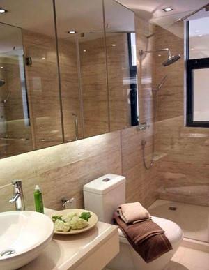 两室一厅舒适现代简约风格卫生间装修效果图