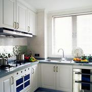 欧式厨房L型橱柜装修