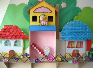 90平方充满稚气的幼儿园墙面布置图片