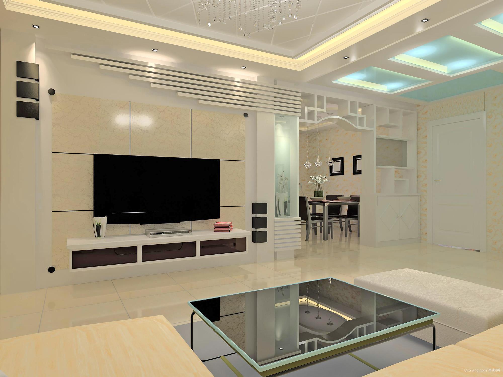 强劲洗练:2015欧式大户型硅藻泥电视背景墙